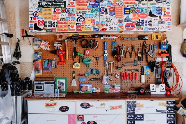 Garage Interior Work Station Tool Bench Workshop Tools And Equipment