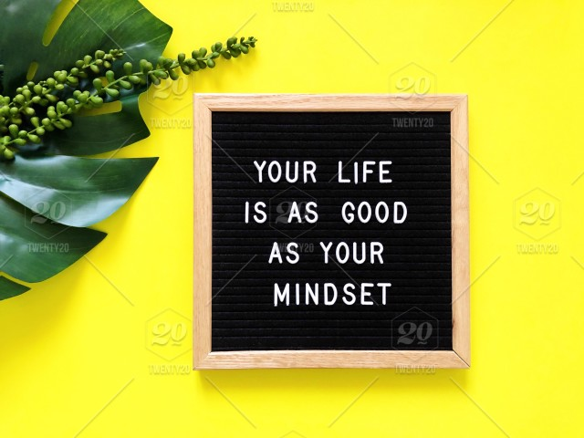 Your Life Is As Good As Your Mindset Letter Board Message