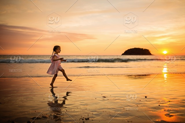 4f2cfb591ae Nominated Cute little girl with blonde hair in pink dress walking on ...