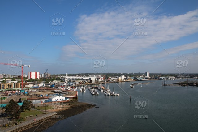 Southampton football club's st  mary's stadium from the Itchen