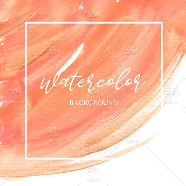 Watercolor Ombre Orange Background Coral Dip Dye Pink