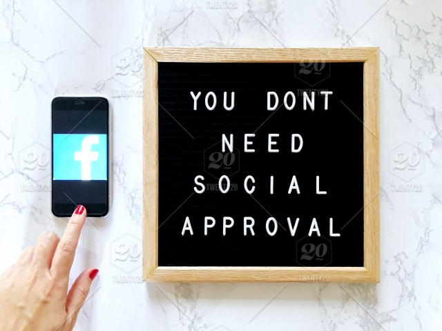 📱 You don't need social approval  Great quote on message