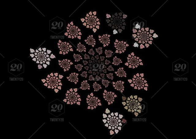 Abstract Flowers Fractal Picture On The Dark Background