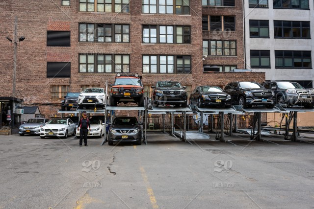 New York, USA, Automated car parking system service in New