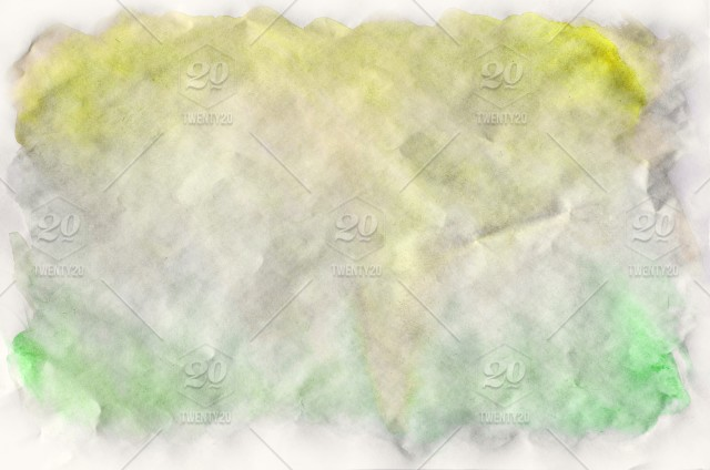 Watercolor Wet Background Green And Yellow Colors