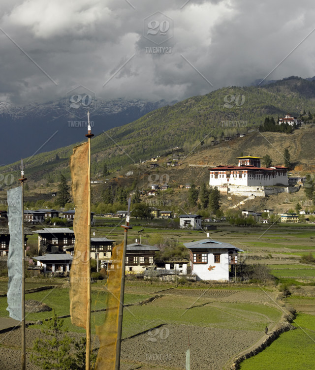 Paro Dzong in the Kingdom of Bhutan - a small independent