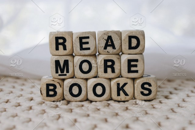 Read More Books Words Boggle Cubes Stock Photo