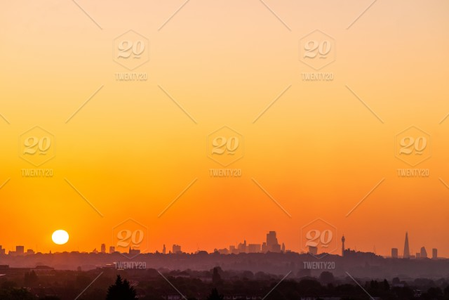 London At Sunrise Viewed From The Ferrum Building At