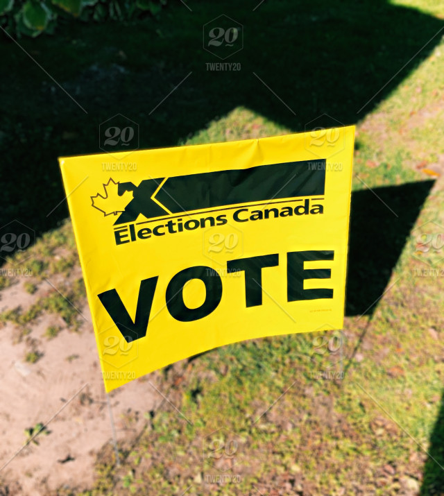 Vote Sign For Elections Canada Stock Photo B1abbdf7 3bb7 4b92