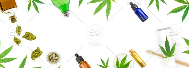 Various Cannabis Products Banner Cannabis Therapy Essential Lotion Medicals Disease Health Sativa Production Pharmaceutical Ganja Alternative Narcotic Organic Natural Moisturise Leaf Oil Cream Relax Ecology Industry Extract