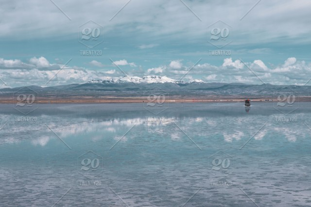 Endless Landscapes With Reflection Like Mirror Of Sky In
