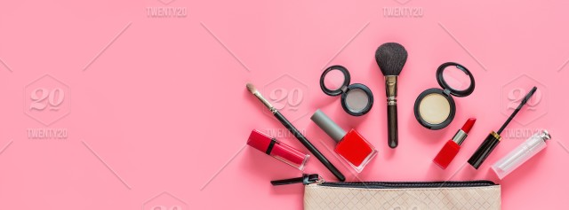 Cosmetic Beauty Decorative Background Accessory Fashion Care Flat Lay Color Makeup Product Collection Female Set Eyeshadow Glamour Composition Flat Lay Facial Make Different Beautiful Beautician Assortment Professional Woman