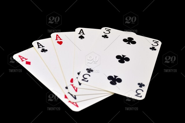 The Combination Of Playing Cards In Poker On Black Background Four Of A Kind Play Win Playing Isolated Hearts White Games Flush Black Bet Leisure Chance Betting Blackjack Clubs Combination Concept