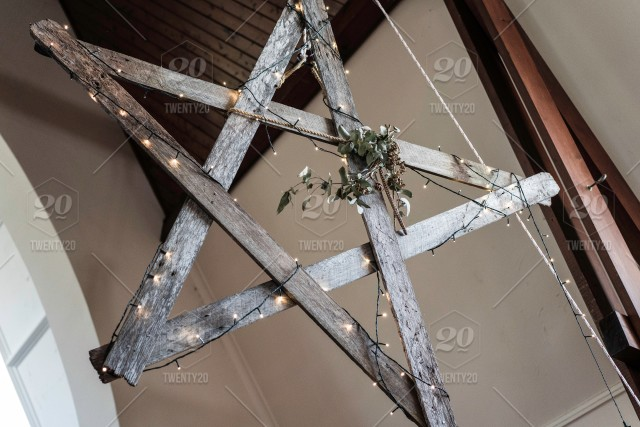 Wooden Rustic Star Hanging Inside A Church For Christmas For An Outback Christmas Themed Christmas In Sydney Australia Hanging Background Star Christmas Bokeh Festive Wood Golden Mood Present Dark Birthday Backdrop Empty