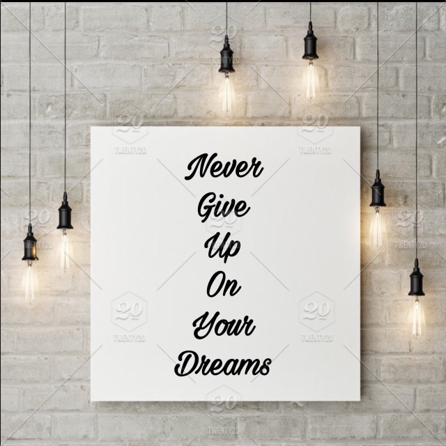 Never Give Up On Your Dreams Picture Frame Framed Interior Frame Frames Wall Lights Quotes Sayings Words Inside The House Interior Design Wall Design Design Wall Frame Good Vibes Inspirational Quotes Nominated