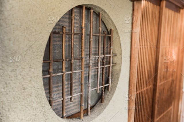stock photo round circle wood window japan style traditional home in kyoto 607a9cbd 83d6 4e2d 8434 ec00772f2ee3