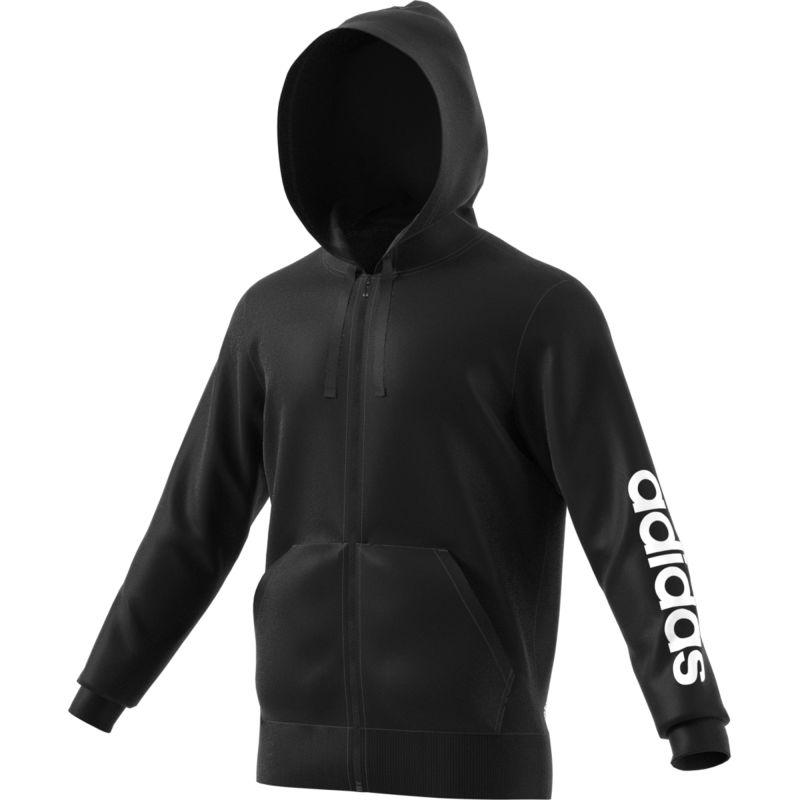 adidas-Herren-Essentials-Linear-Full-Zip-Hood-Kapuzenpullover