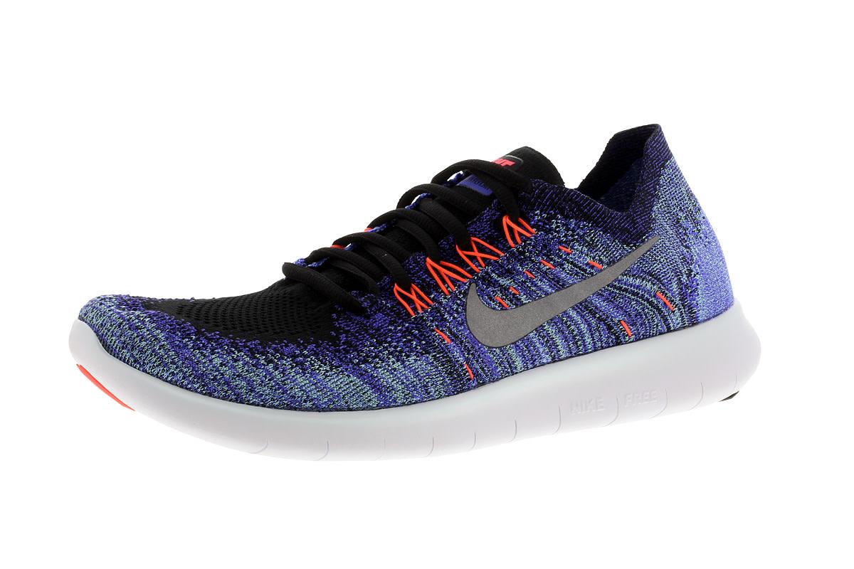 Nike Free RN Flyknit 2017 - Laufschuhe für Damen - Blau
