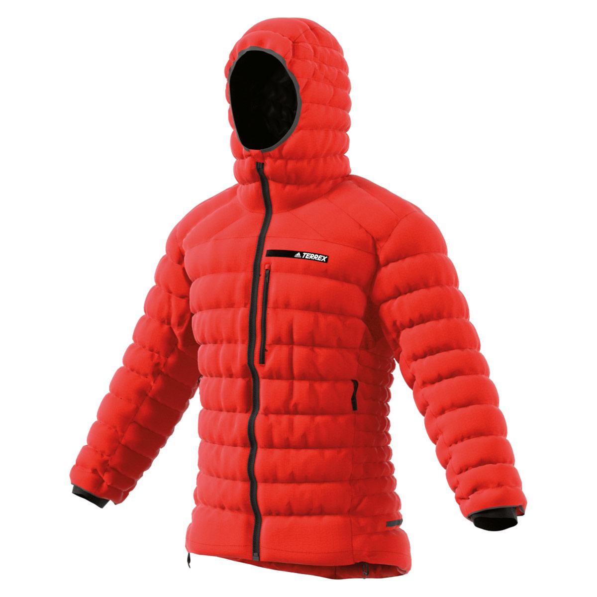 Homme Adidas Hooded Down Vestes Rouge Jacket Blousons Climaheat Terrex Pour XZukPi