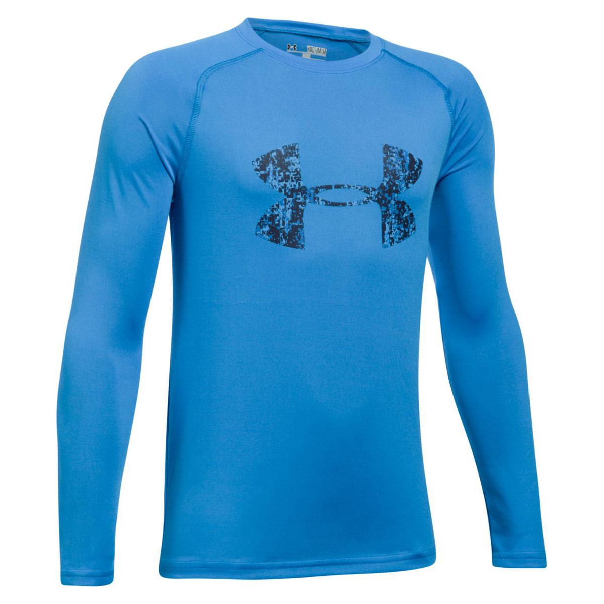 91f2d136 Under Armour Big Logo Long Sleeve Tee - Fitness tops - Blue