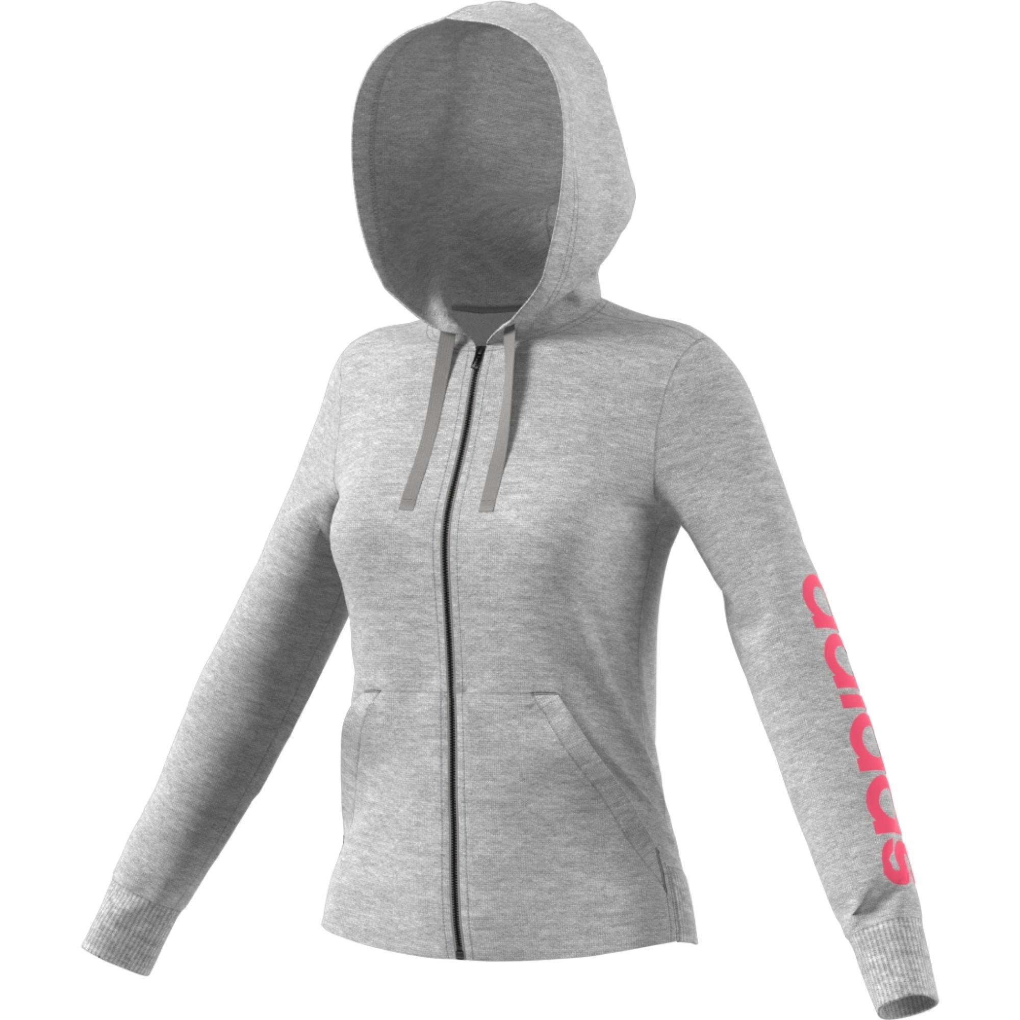adidas Linear Fullzip Hoodie Sweatshirts & Hoodies für Damen Grau