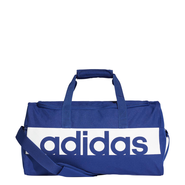 b59254582a1db0 adidas Linear Performance Duffel Bag Small - Sports bags - Blue | 21RUN