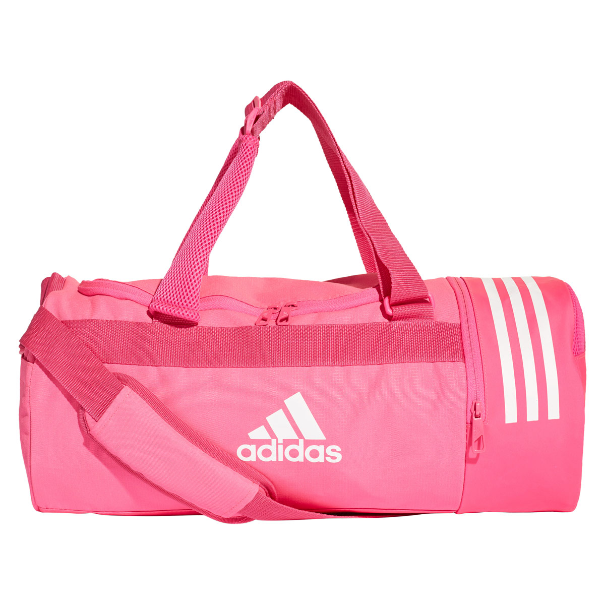adidas Convertible 3-Stripes Duffel Bag Small - Sports bags - Pink ... 3f252ee22d389