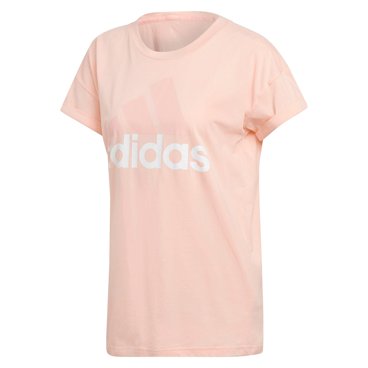 adidas Essentials Linear Loose Tee - Fitness tops for Women - Pink ... 970a5986ae