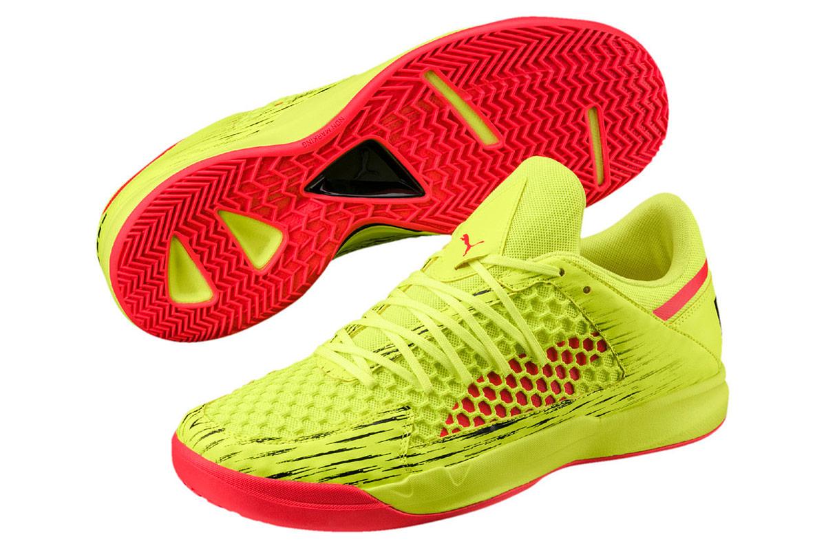 Puma Evospeed Indoor Netfit Euro 4 Chaussures de foot Jaune