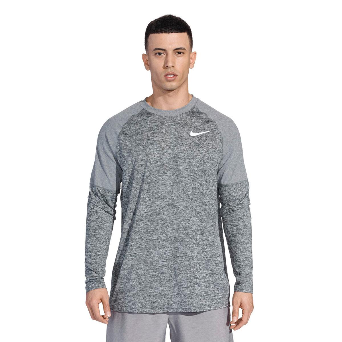 1cd231a3 Nike Element Longsleeeve Running Crew - Running tops for Men - Grey | 21RUN