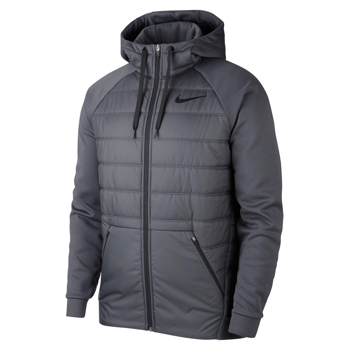 42fd01bf93e60 Nike Therma Full-Zip Hoodie - Running jackets for Men - Grey