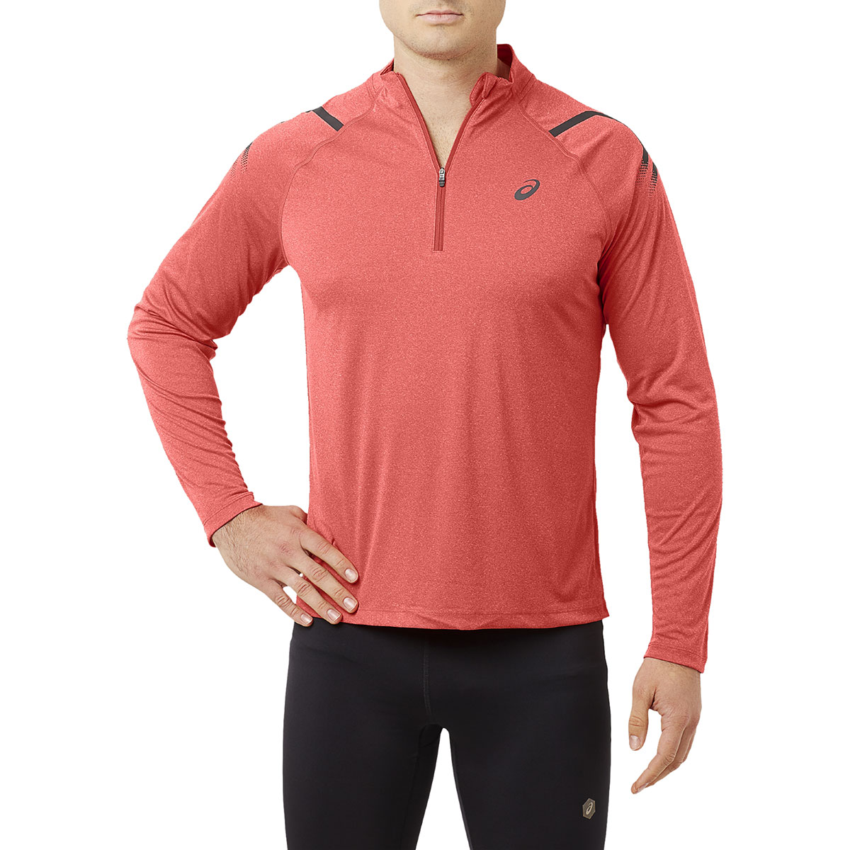 862926a4c2ce ASICS Icon Long Sleeve Half Zip - Running tops for Men - Purple