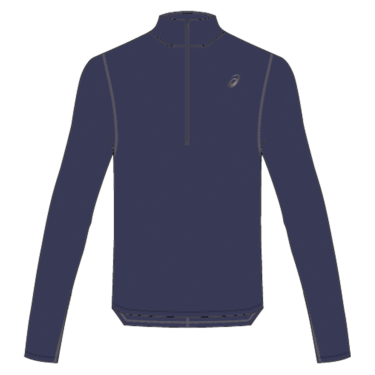 c9bb813e481 ASICS SILVER Long Sleeve 1/2 ZIP TOP - Running tops for Men - Blue | 21RUN