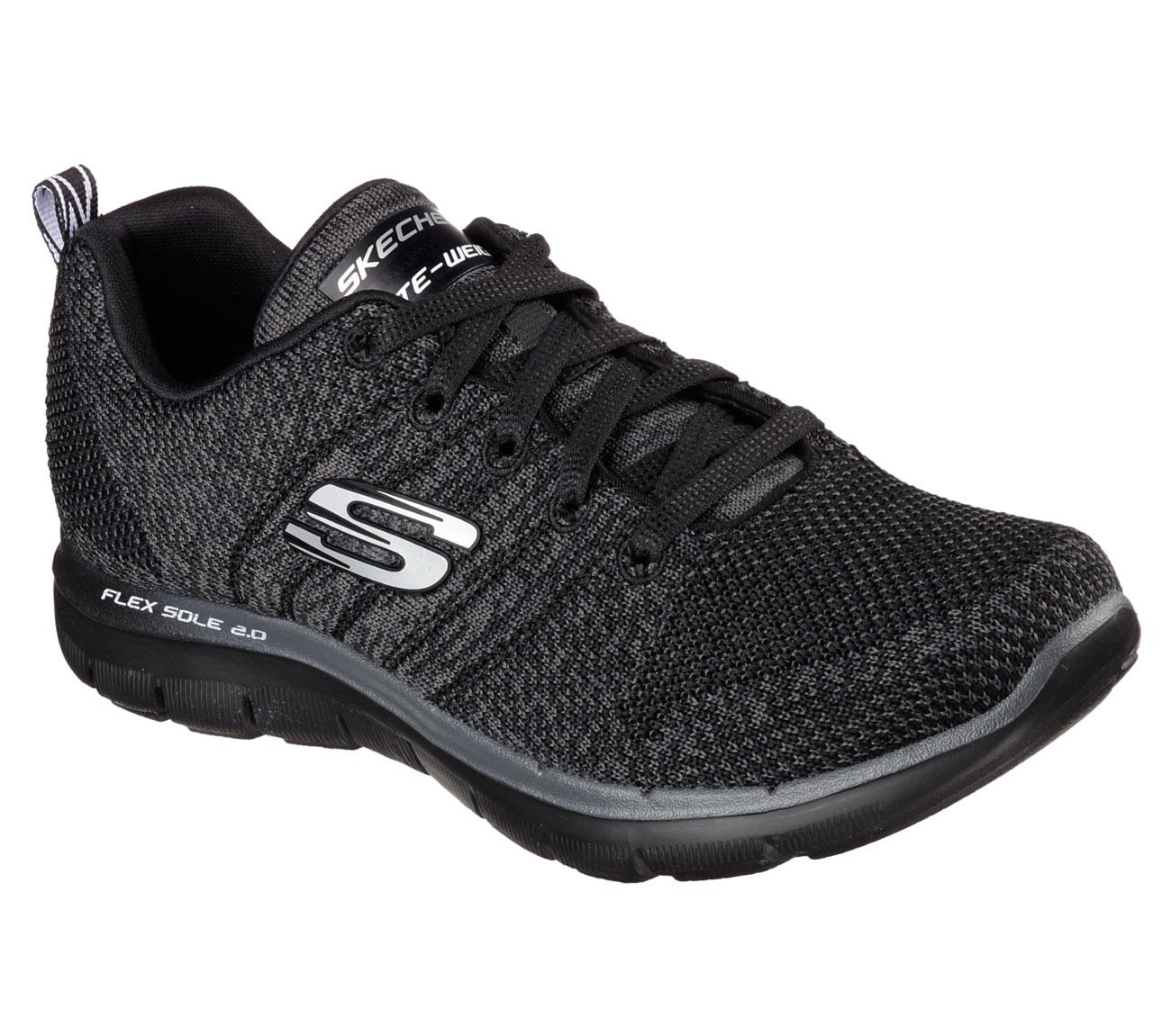 Skechers Running Flex 2 Shoes 0 For Black Appeal Highenergy Women mN8wvn0O