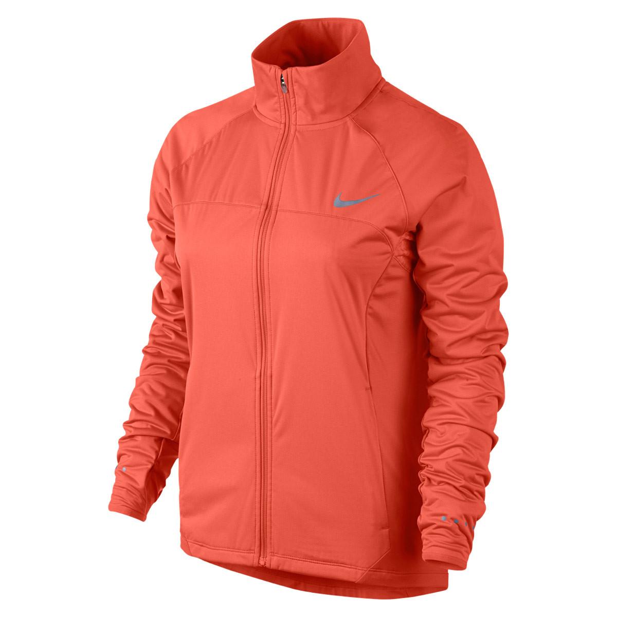 1722e4e791ea Nike Shield Running Jacket - Sweatshirts   Hoodies for Women - Red ...