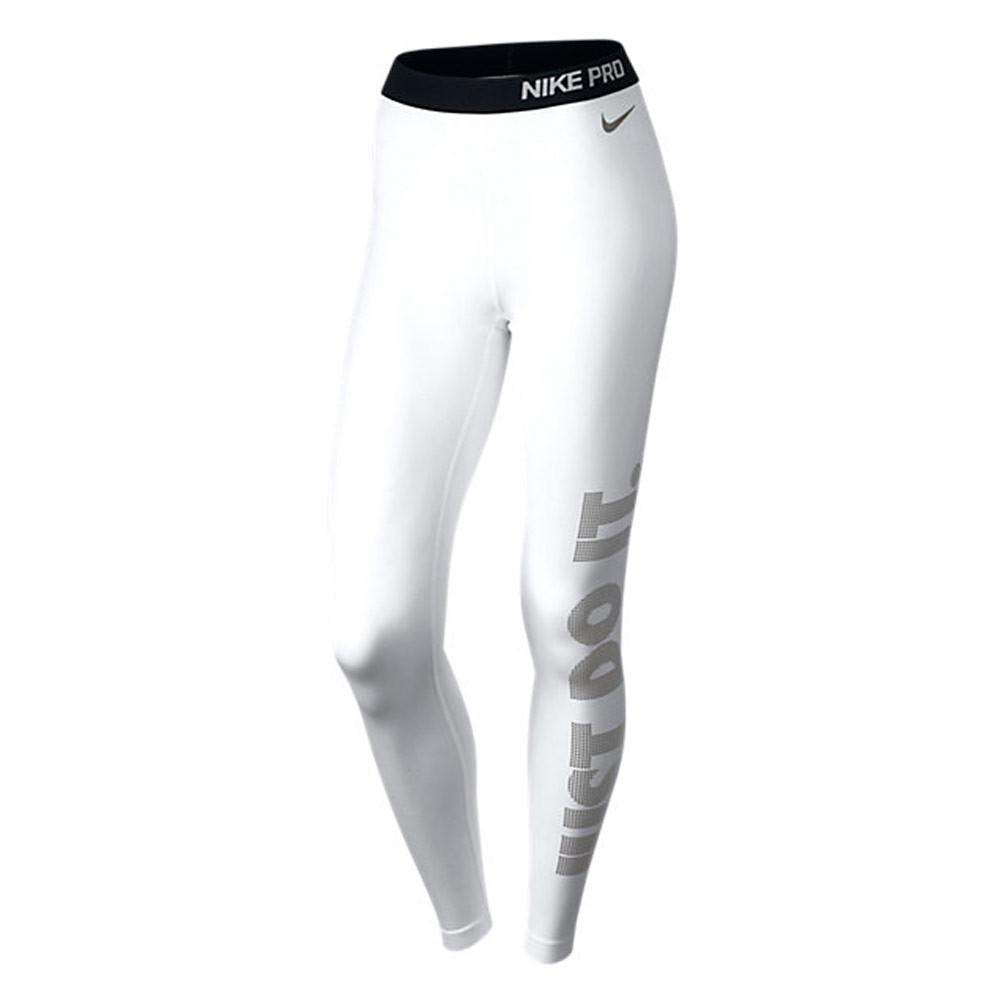 Nike Pro Warm Tight - Pantalons course pour Femme - Blanc  eb67887ab01