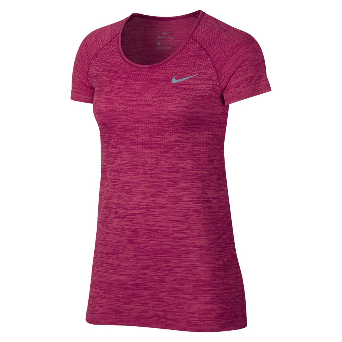 a2627875b2 Nike Dri-Fit Knit Tee - Camisetas de running para Mujer - Rosa