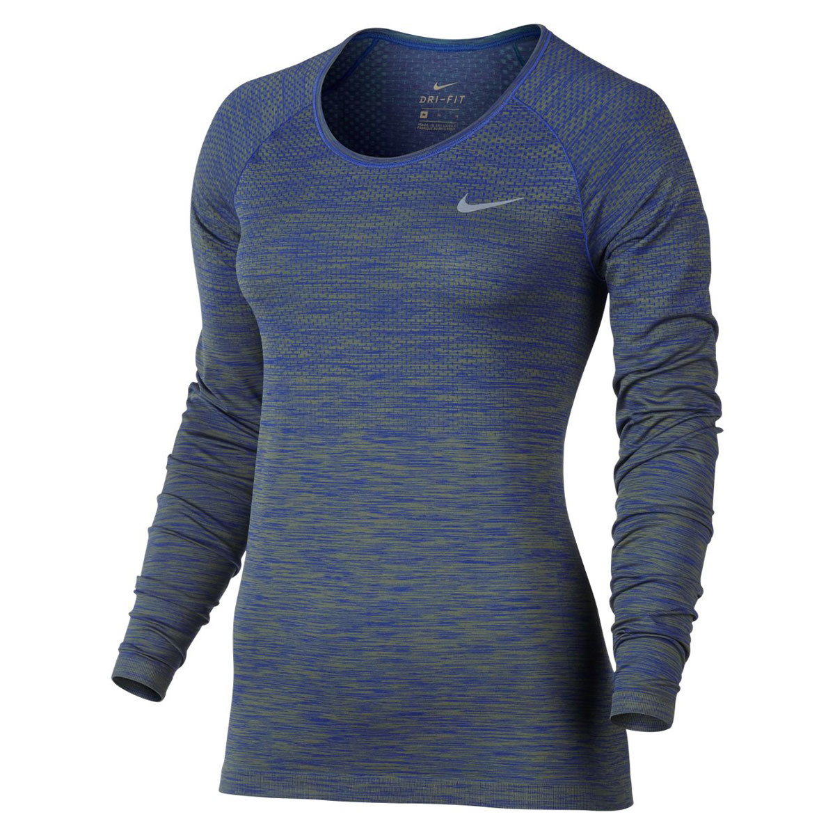 Para De Mujer Fit Nike Camisetas Azul Running Dri Knit Tee 4cL3qSARj5