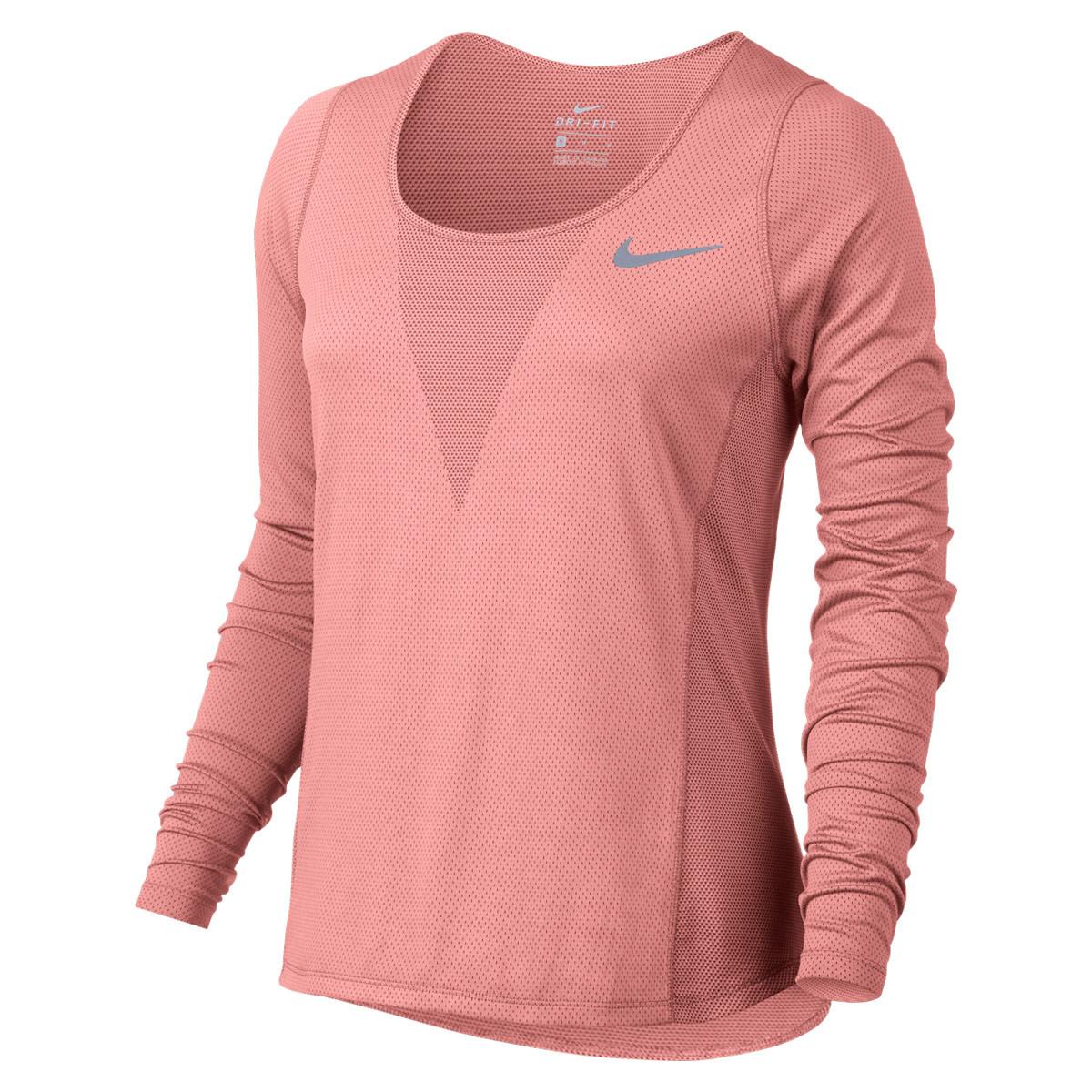 ccec1559b Nike Zonal Cooling Relay Running Longsleeve - Running tops for Women - Red  | 21RUN