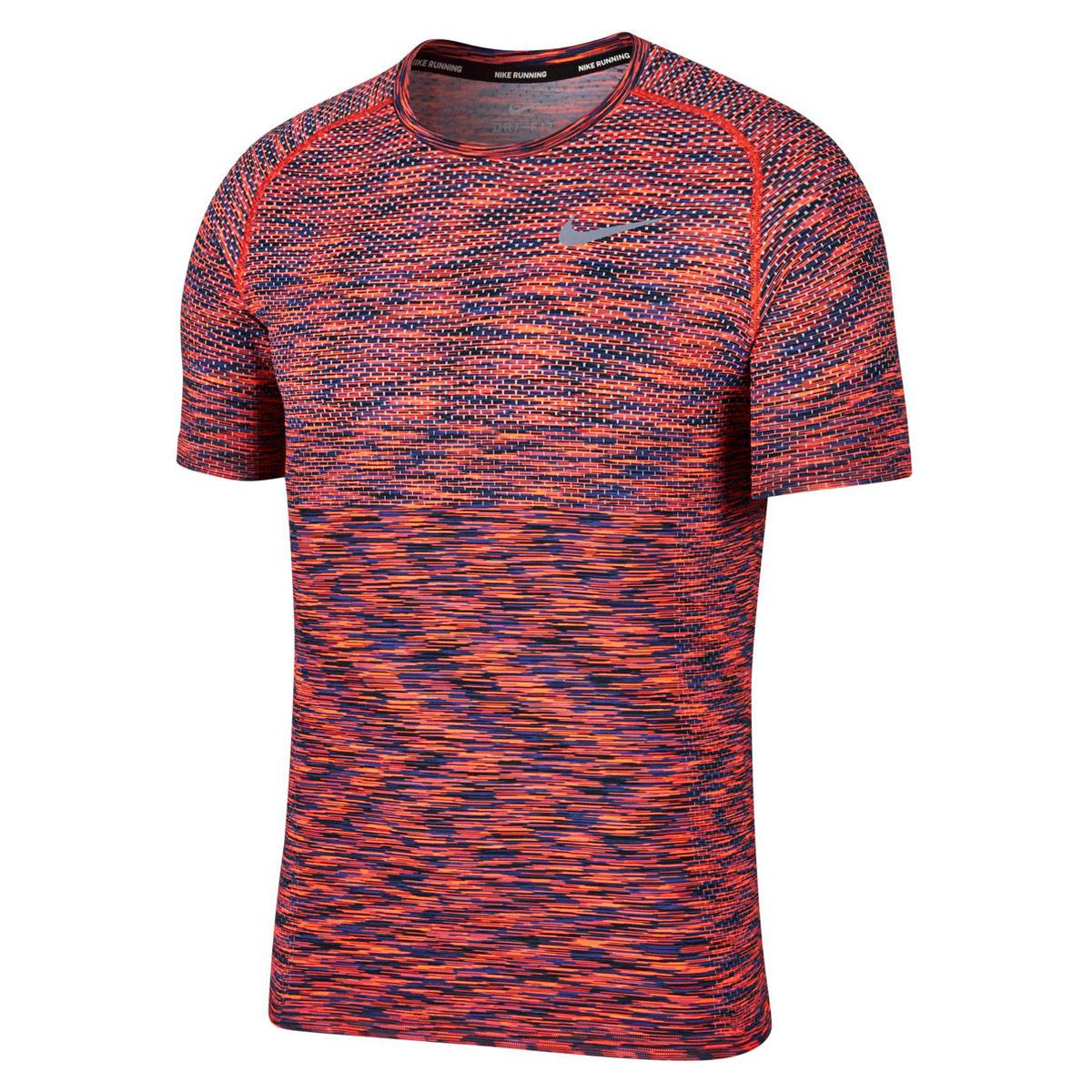 Top Hombre Dri Para Nike Knit Running Rojo Fit Camisetas De vmOnN80w