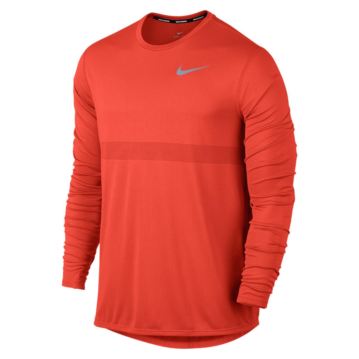 9834d19a0 Nike Zonal Cooling Relay Running Longsleeve - Running tops for Men - Red |  21RUN