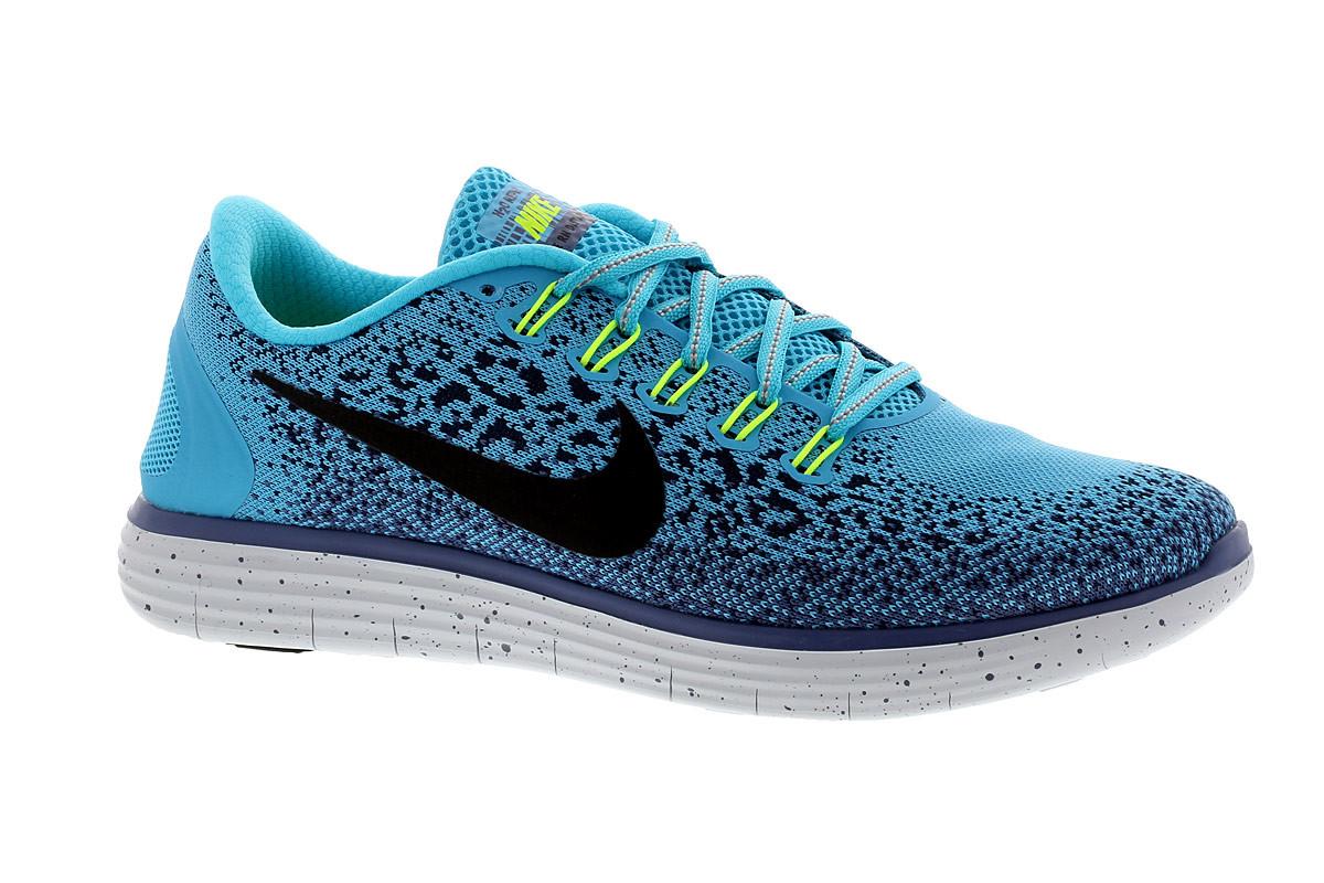 nike free run distance shield chaussures running pour femme bleu