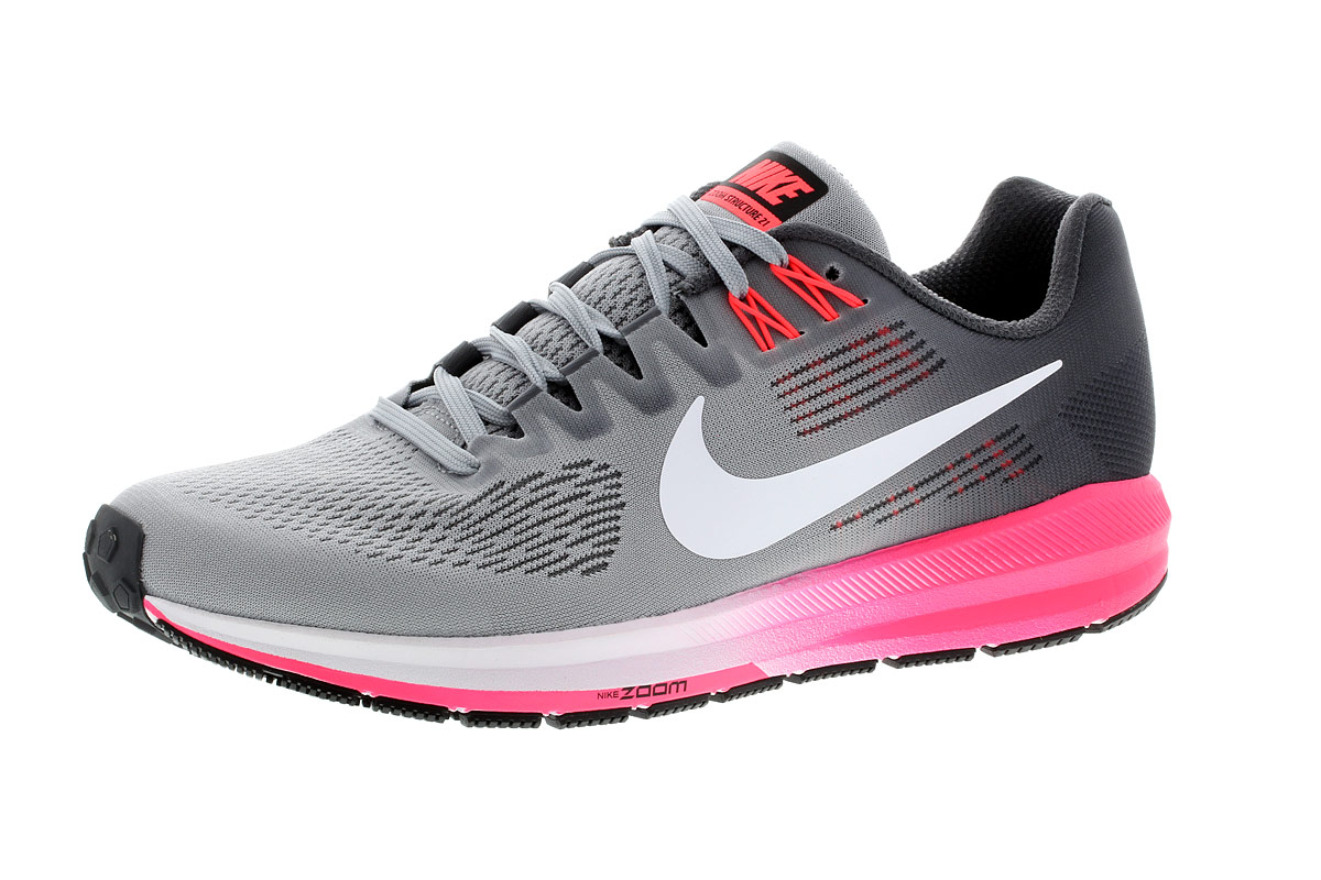 best sneakers 26716 93bf8 Nike Air Zoom Structure 21 - Chaussures running pour Femme - Gris   21RUN