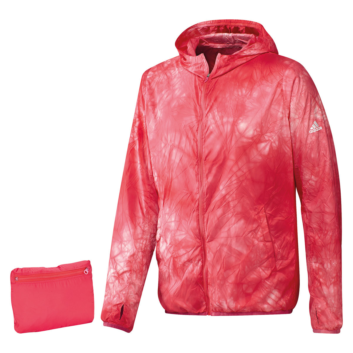 5af5914aa5 adidas Kanoi Run Packable Dye Jacket - Running jackets for Men - Red