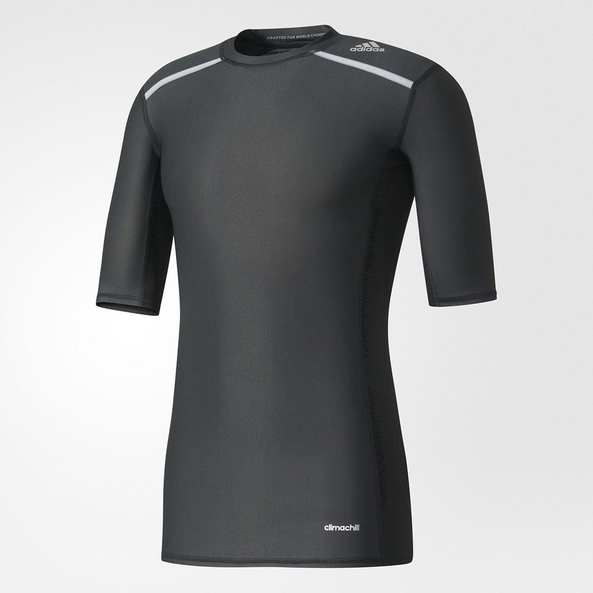 adidas Techfit Chill Short Sleeve Tee - Laufshirts für Herren - Schwarz |  21RUN