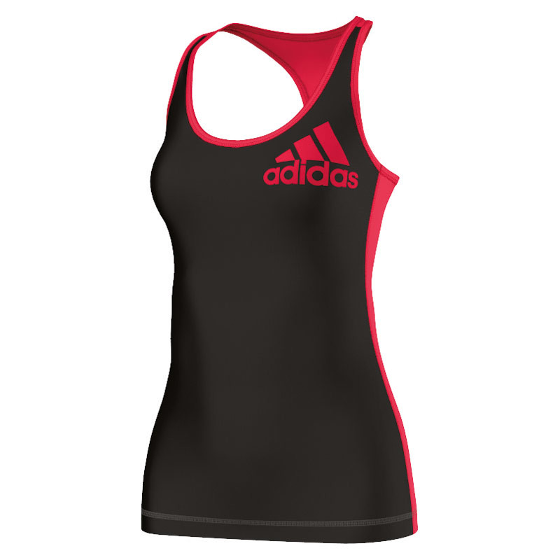 Adidas Techfit Logo Tank Article compression pour Femme Gris