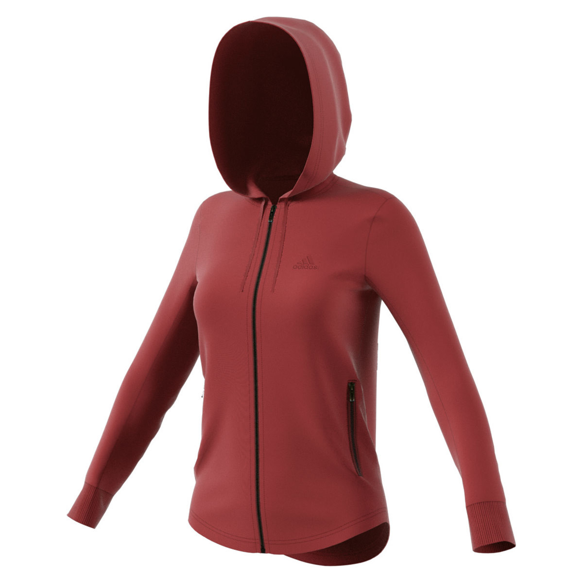 Femme Marron Id Adidas Sweats Hoodie Pulls Fullzip Sport Pour WHIY9eED2b