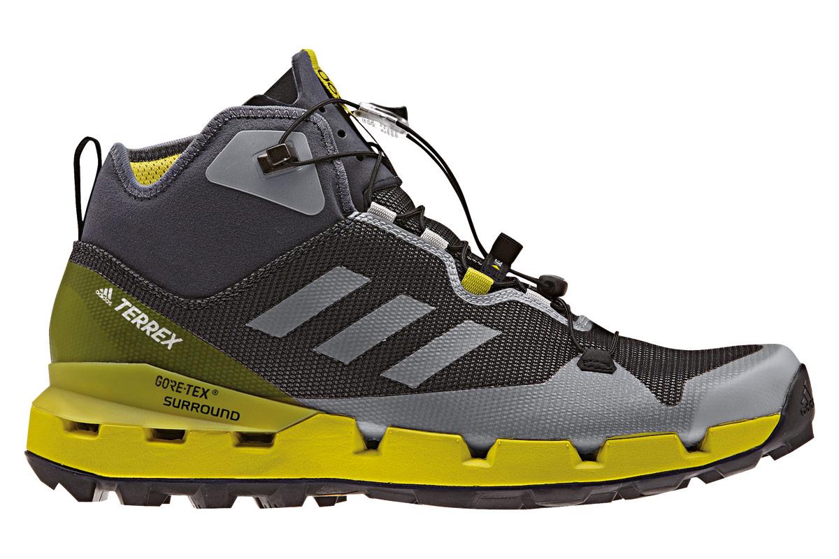 Adidas Terrex Fast Mid GTX zapatos al aire libre para los hombres negros rodean