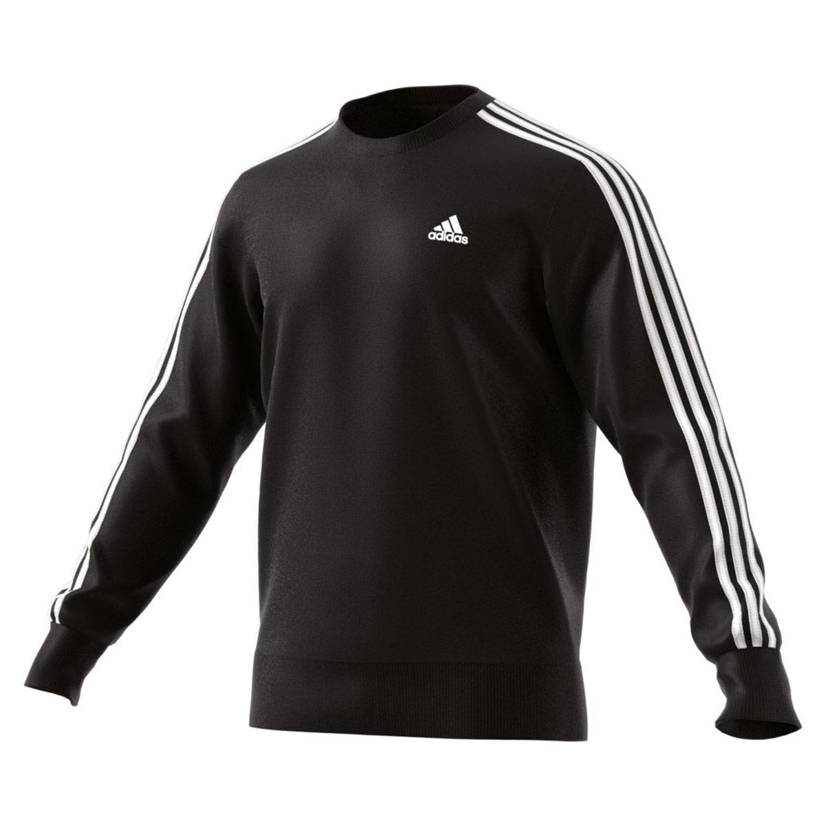 73a3131c0 adidas Essentials 3-Stripes Crew Sweatshirt - Sweatshirts / Hoodies for Men  - Black | 21RUN