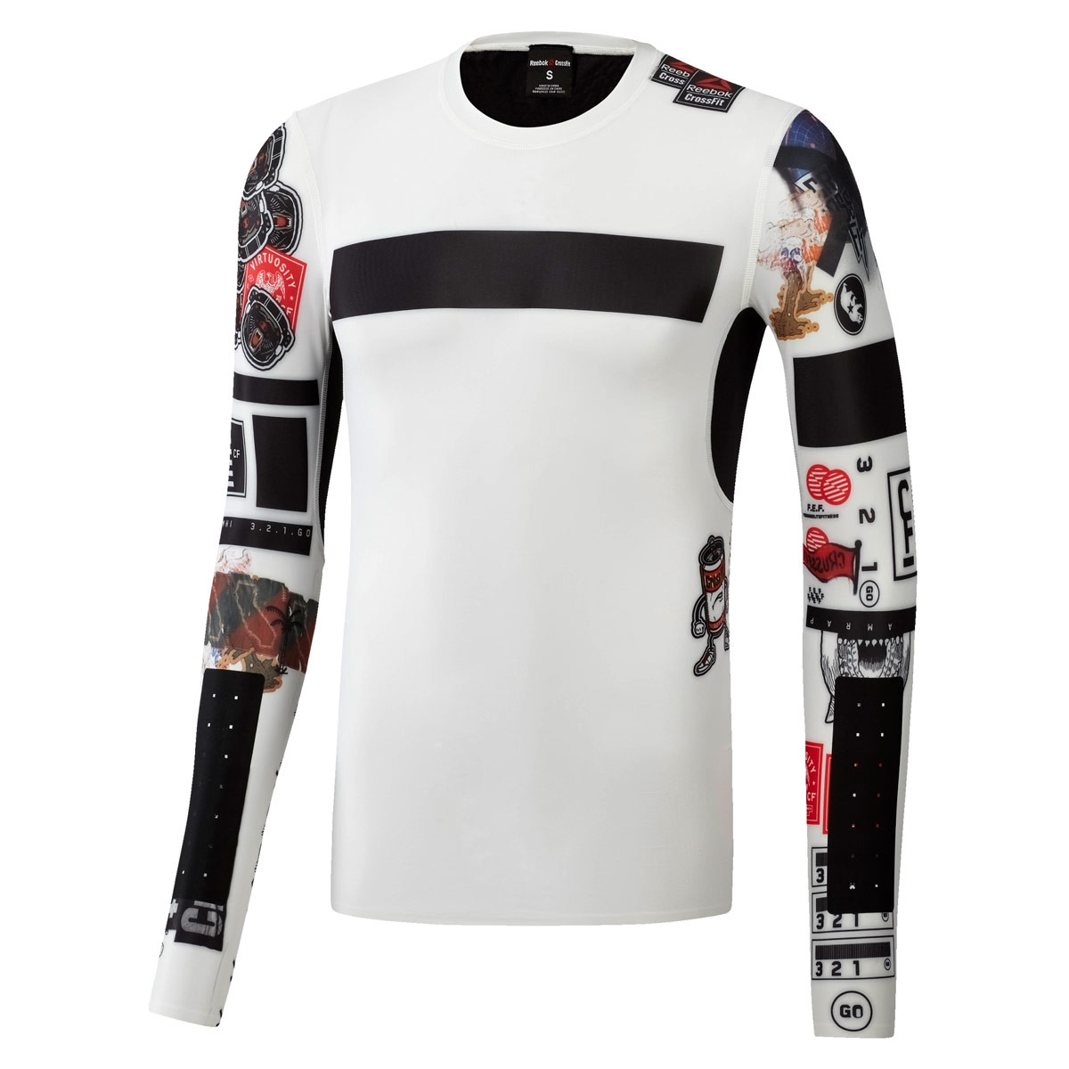 266e5ebabaaf Reebok Crossfit Compression Long Sleeve Shirt - Fitness tops for Men -  White